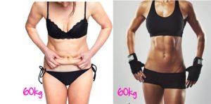 Risultati immagini per grasso e muscolo peso